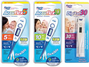 Accuflex5, Accuflex10 and Digital 30 thermometers